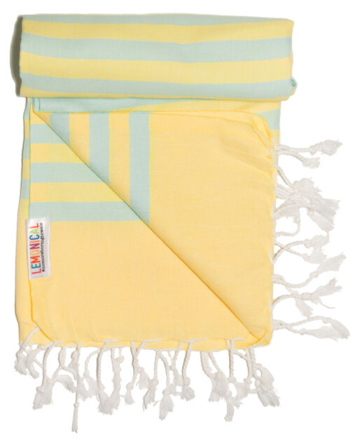 Morning Mojito Lemonical Beach Towel