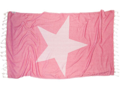 PINK STAR Beach Towel Lemonical
