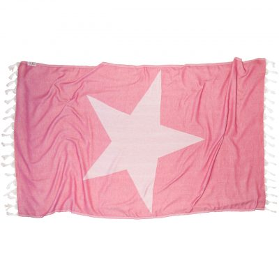 PINK STAR Beach Towel