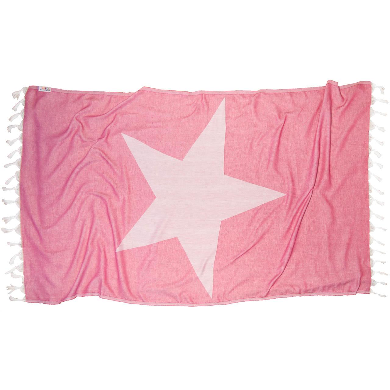 PINK STAR Beach Towel Lemonical