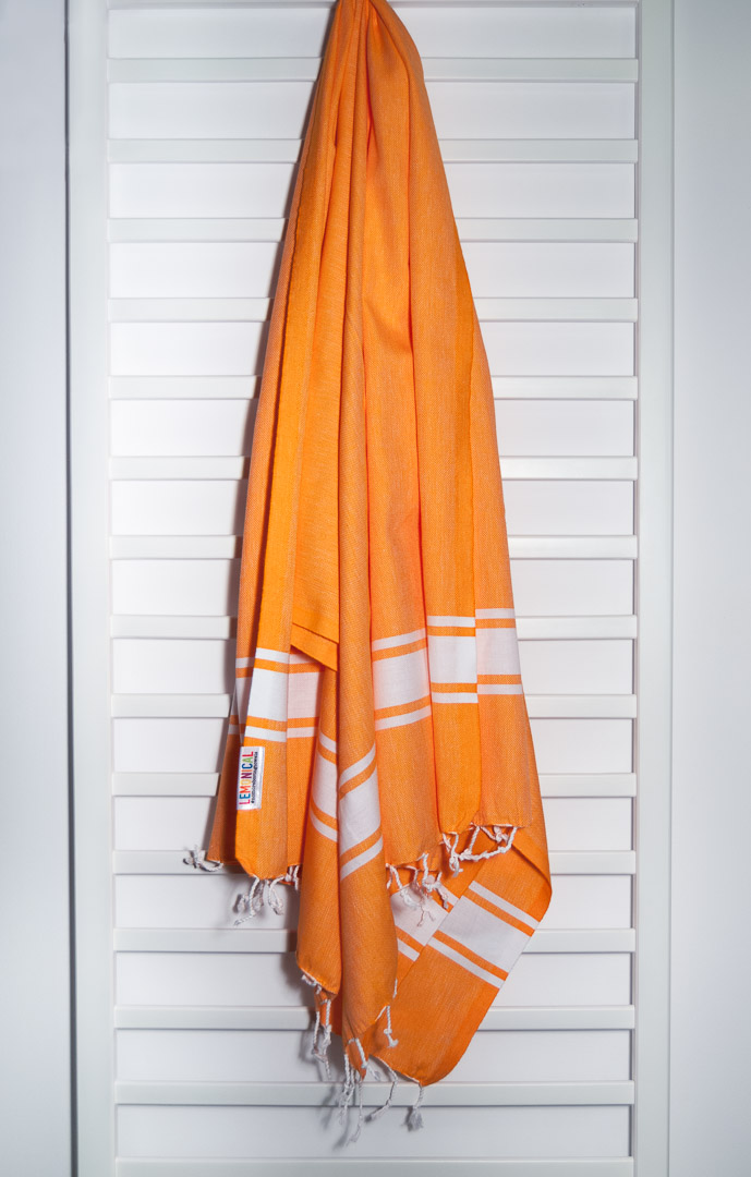 TANGERINE Beach Towel Lemonical