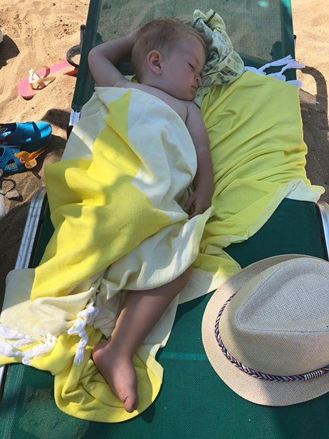 Детска хавлия за плаж | Бебешка хавлия за плаж