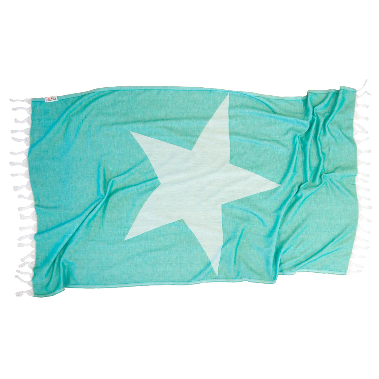 GREEN STARFISH BEACH TOWEL
