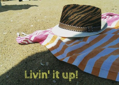 Livin' it up with Phoenix Lemonical Beach Towel!