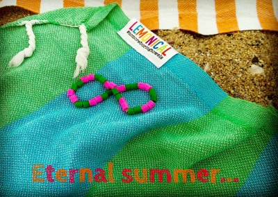 Eternal Summer with Dragon  Beach Towel