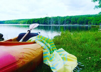 Morning Mojito Sports Towel went Kayaking