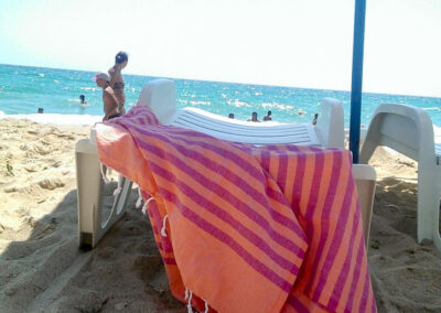 Sunset Mojito Beach Towel  by Lemonical