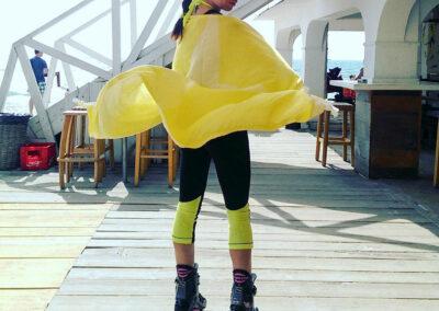 Yellow Starfish Sports Towel - Kangoo Jumps at Cubo
