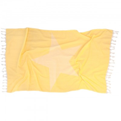 YELLOW STARFISH BEACH TOWEL