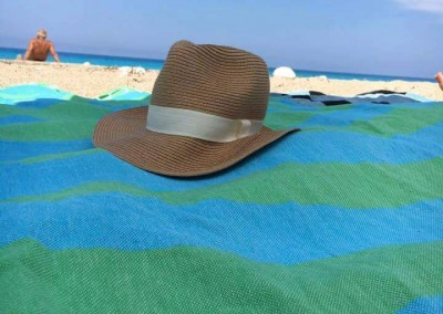 Dragon Lightweight Beach Towel takes a rest at Pefkoulia Beach, Lefkada, GR