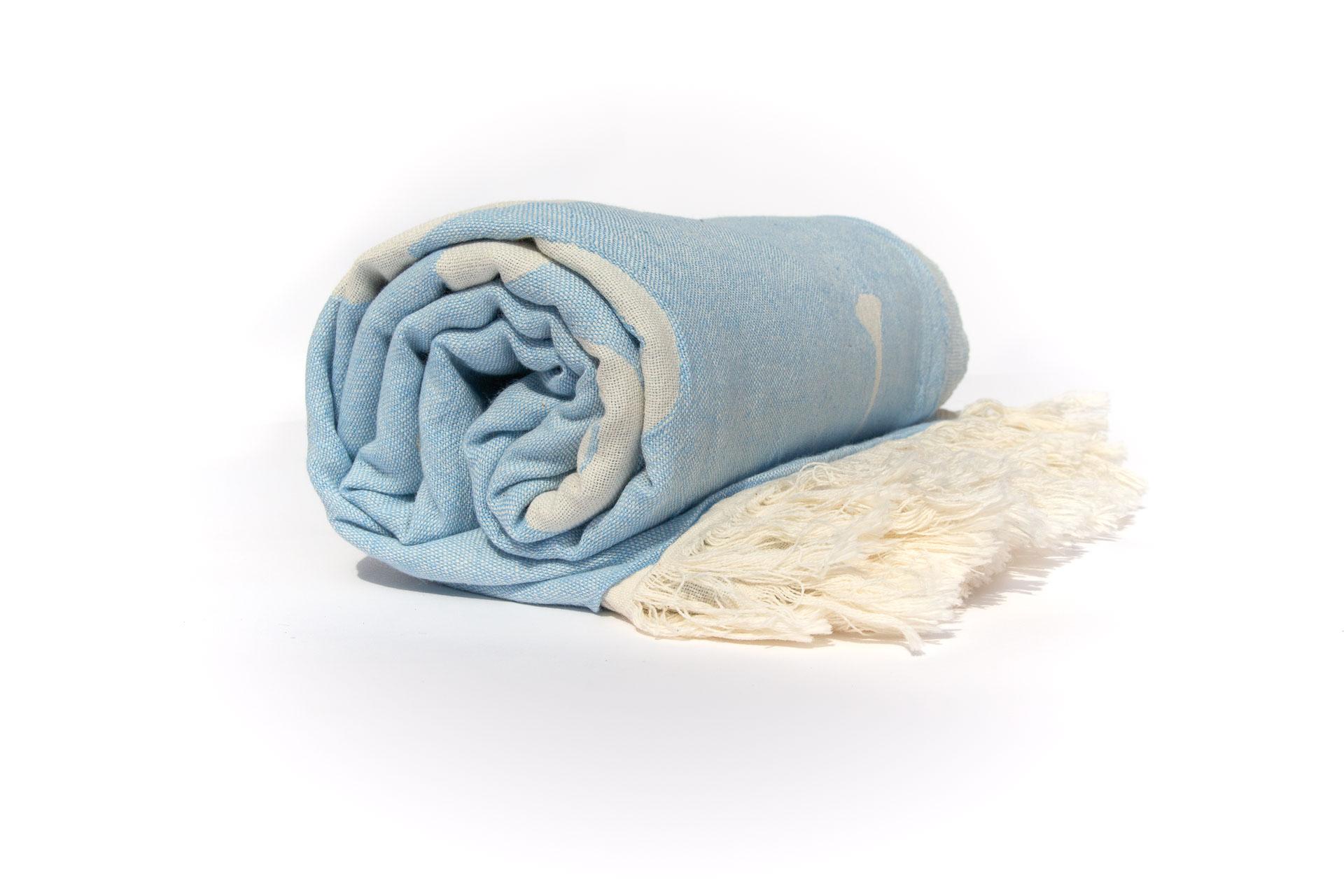 синьо фламинго снимка навита кърпа