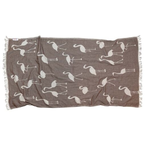 BROWN FLAMINGO Towel Lemonical-1