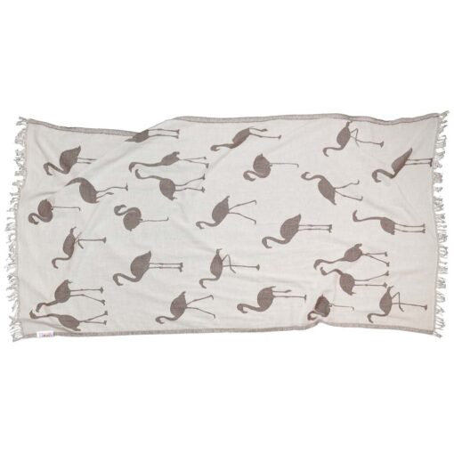 BROWN FLAMINGO Towel Lemonical-2