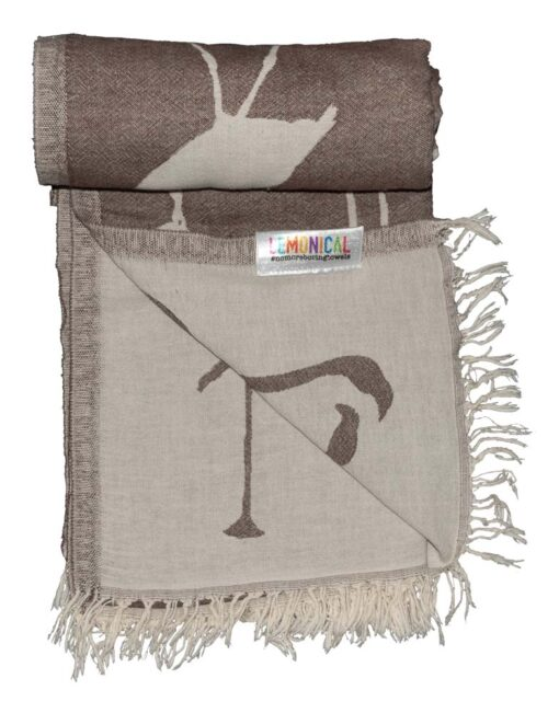 BROWN FLAMINGO Towel Lemonical-4