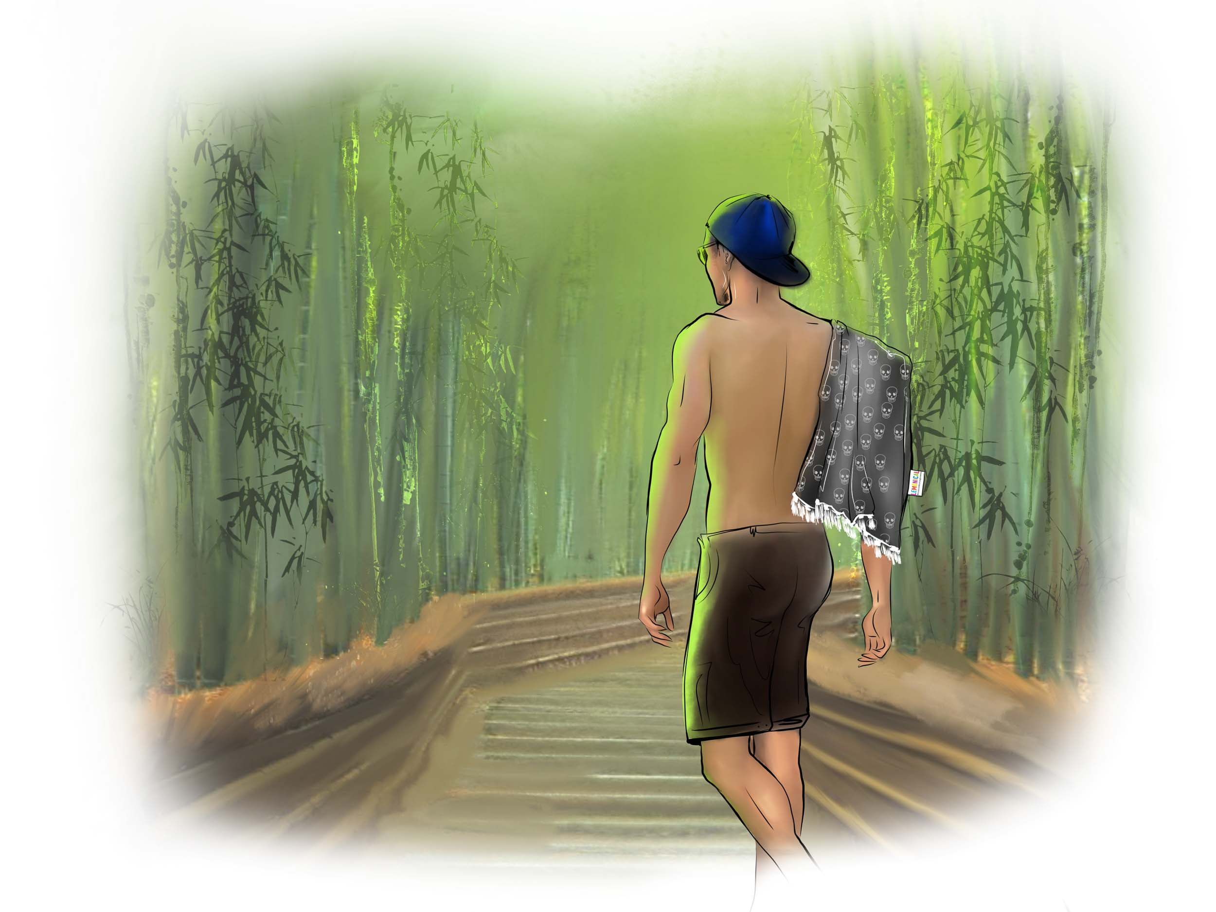илюстрации LEMONICAL Bamboo Forest Pop Art