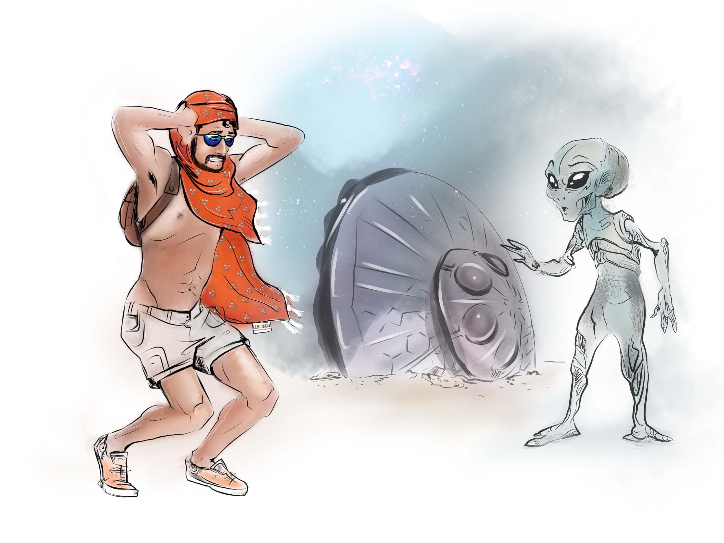 илюстрации LEMONICAL Burning Man