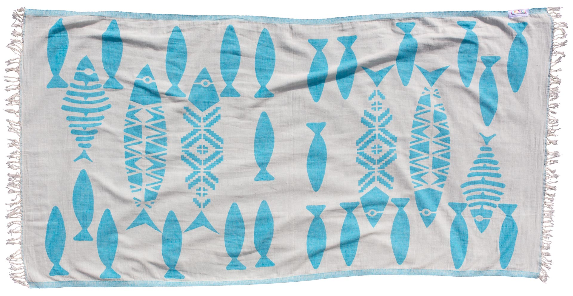 Beach Towel Blue Barracuda - LEMONICAL