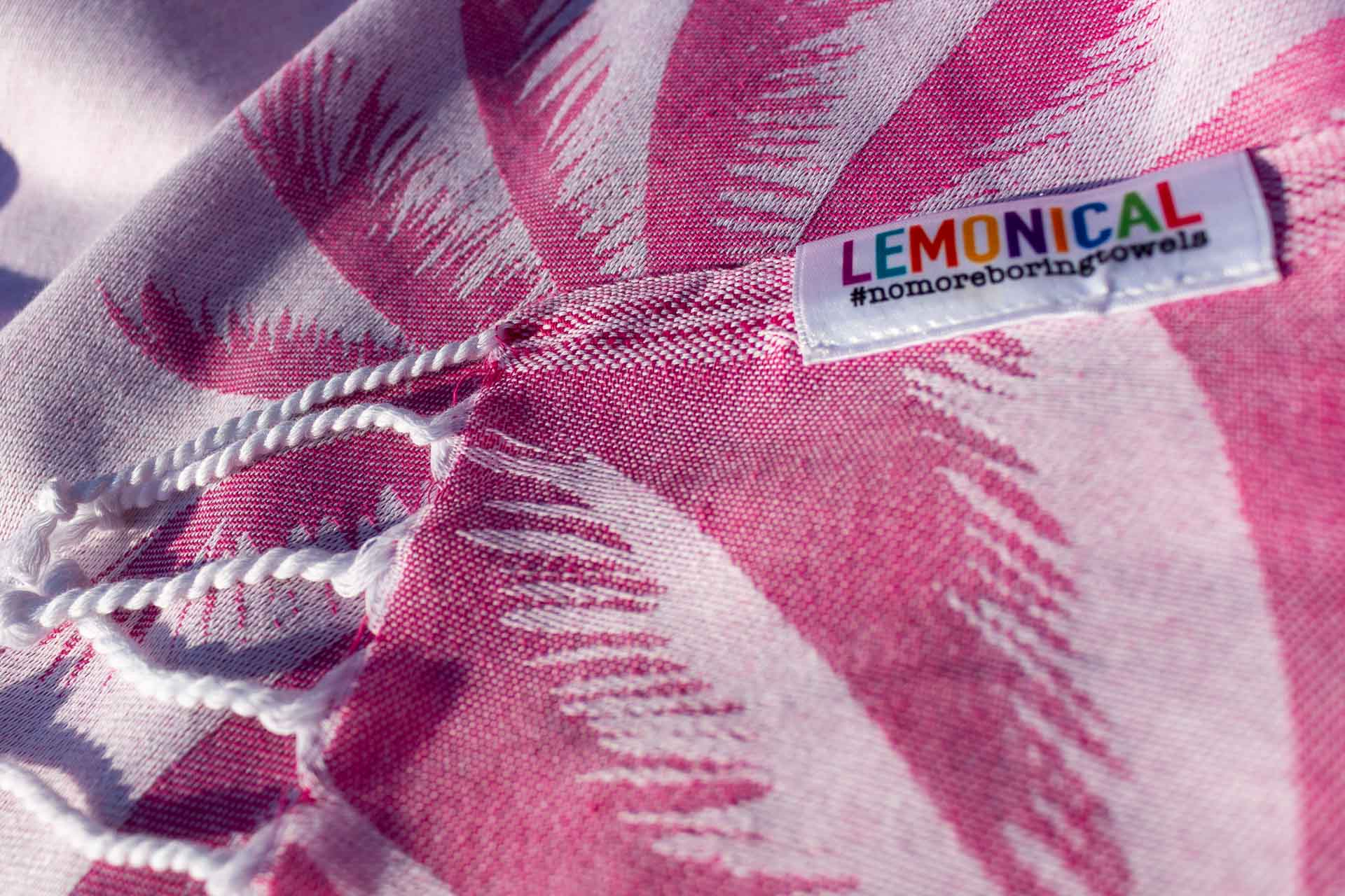 Pink Fuchsia PALMS Towel